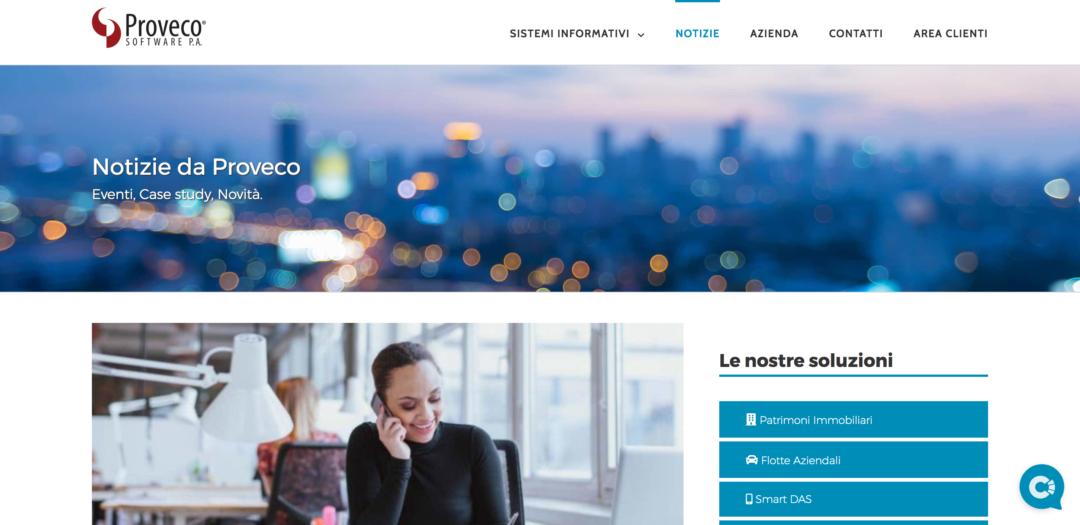 Proveco - Pagina Blog
